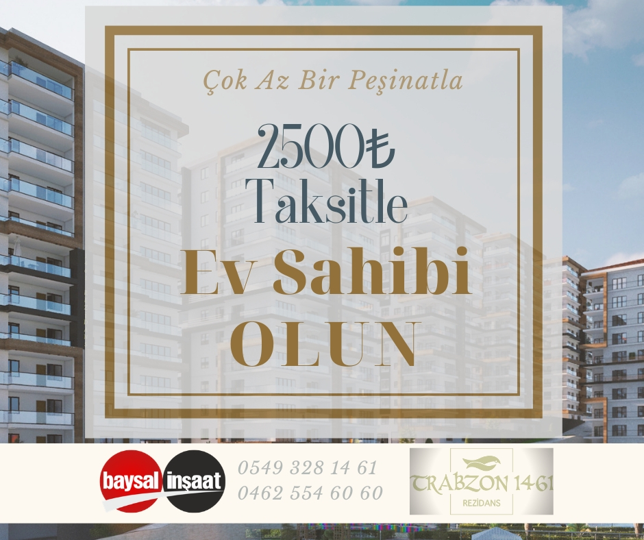 Trabzon da Satılık Daire Almanın Kolay Yolları
